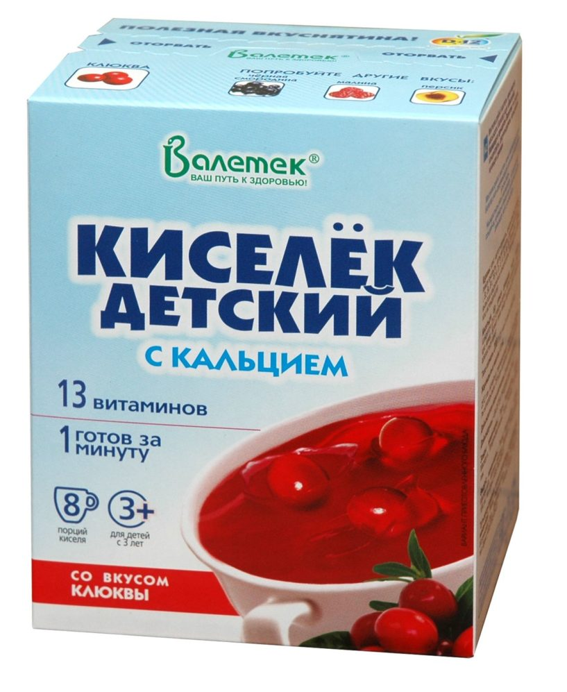 Кисель витаминизированный с кальцием, клюква
