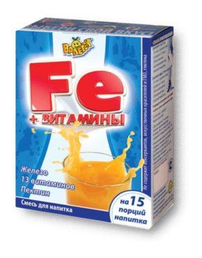 Напиток витаминизированный с железом, черная смородина