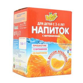 Смесь для напитка Валетек классные витаминки + пребиотик, апельсин