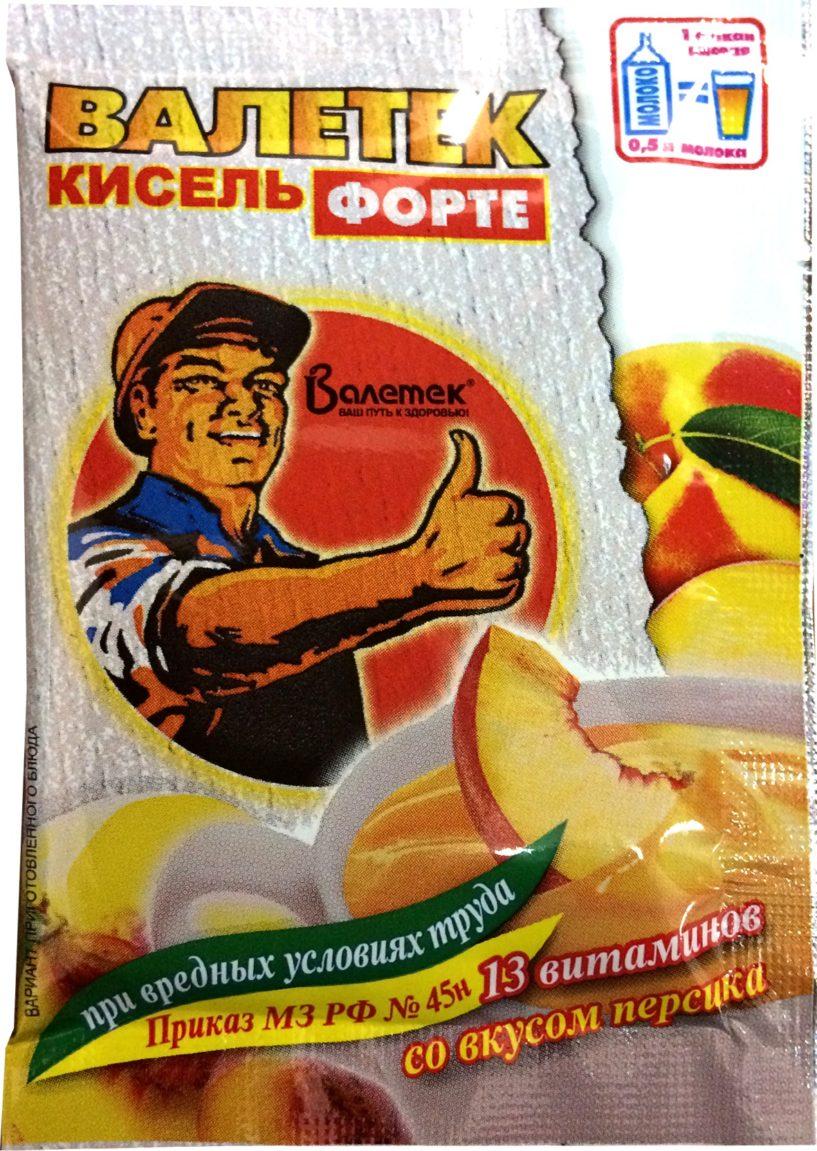 Кисель «Валетек ФОРТЕ» со вкусом персика