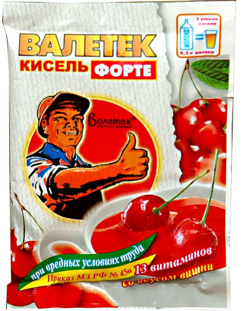 Кисель «Валетек ФОРТЕ» со вкусом вишни