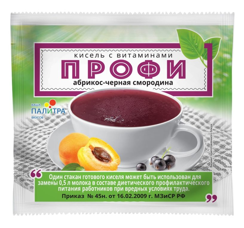 Кисель с витаминами «ПРОФИ» абрикос-черная смородина