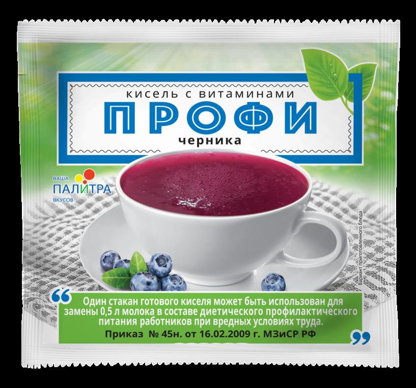 Кисель с витаминами «ПРОФИ» черника
