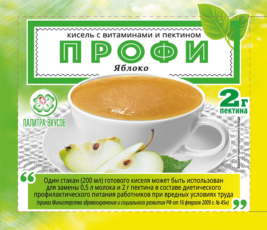 Кисель с витаминами и Пектином «Профи»