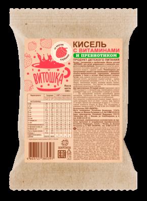 Кисель с витаминами и пребиотиком «ВИТОШКА» Клубника